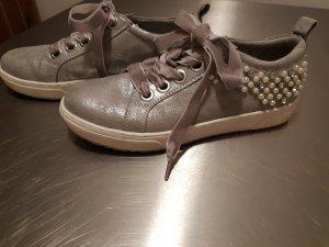 Marco Tozzi Sneaker stringata argento-grigio chiaro Pelle