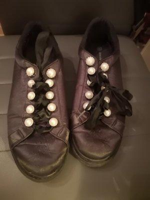 Deichmann Lace-Up Sneaker black-white