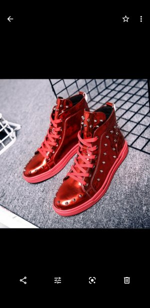 & other stories Zapatos brogue rojo