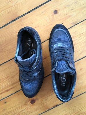 Mjus Heel Sneakers dark blue leather