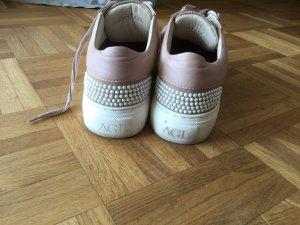 Attilio giusti leombruni Sneaker stringata rosa antico Pelle