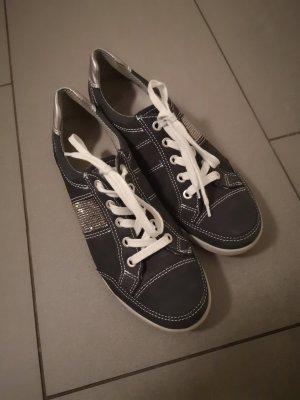 ara Sneaker stringata nero-argento