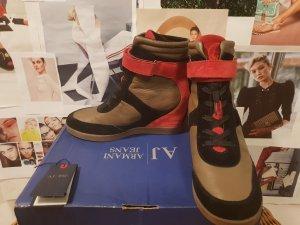 Armani Jeans Wedge Sneaker multicolored