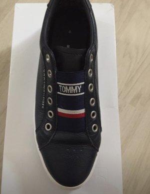Tommy Hilfiger Sneaker alta blu scuro Pelle