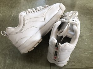 Andrew Marc New York Sneaker stringata bianco sporco