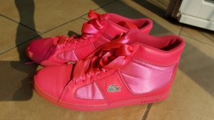 Sneakers Lacoste High Top Leder neonpink 38
