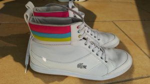 Sneakers Lacoste High Top weiß bunt Leder 38