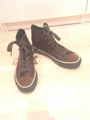 8 Lace-Up Sneaker black brown-natural white leather