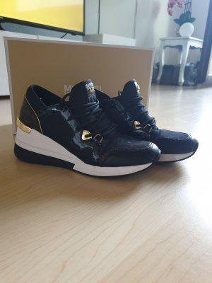 Michael Kors Sneaker alta nero-marrone chiaro