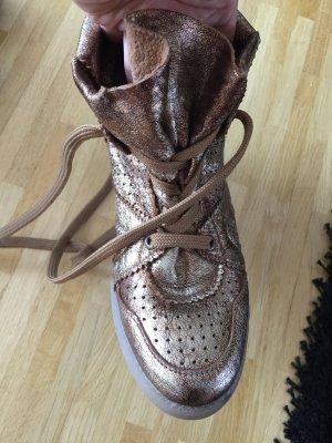 Sneakers mit Keilabsatz, Wedge Sneaker, Bronze