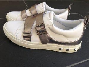 Zapatillas blanco-color plata