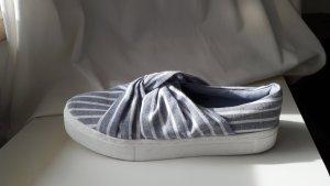 H&M Basket slip-on bleu azur