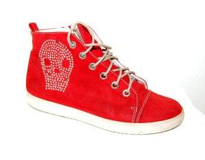 Sneakers mit Totenkopf Strassstein von Marco Tozzi Gr. 40