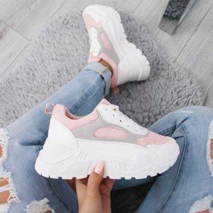 Sneakers NEU Schnürschuhe Wedge Freizeitschuhe Blogger High Top Absatz Sneaker Plateau Sohle Schnürsneakers Damen Schuhe 36