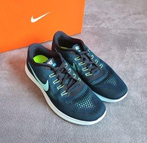 Sneakers Nike Free Run Petrol Türkis Weiß Neongrün Gr. 42,5