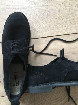 Sneakers schwarz Wildleder von Fly London Gr. 37