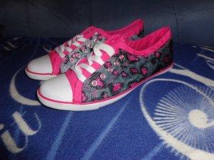 Sneakers silber pink Leopardenmuster Gr. 41 von Jumex !NEU!