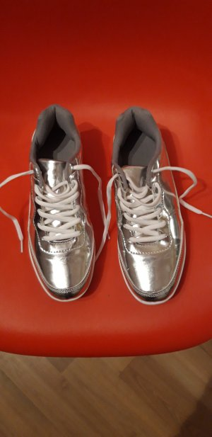 sneakers silber Silver plateau 38