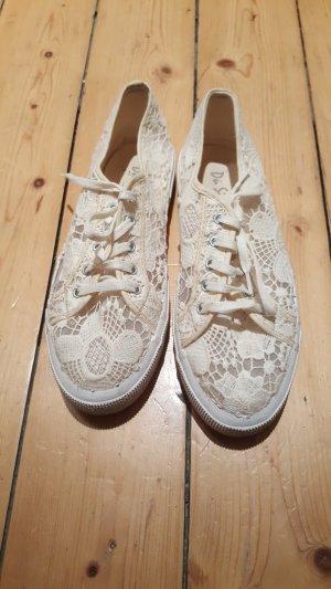 Sneakers Spitze nude dunkelweiß Gr. 38