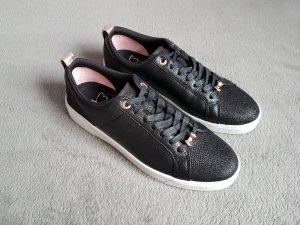 Sneakers Ted Baker Kulei Glitzer Trainers Schwarz Rosegold Gr. 41