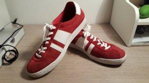 Sneakers Turnschuhe dunkel rot aus Leder