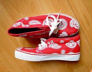 Vans Skater Shoes red-white