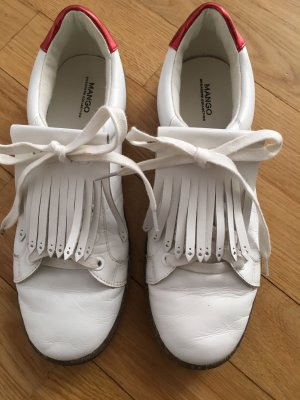 Mango Sneakers wit-donkerrood