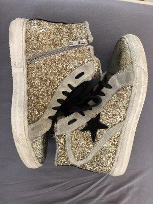 Sneakers von Meline, gr 38 Pailetten, Gold, Leder