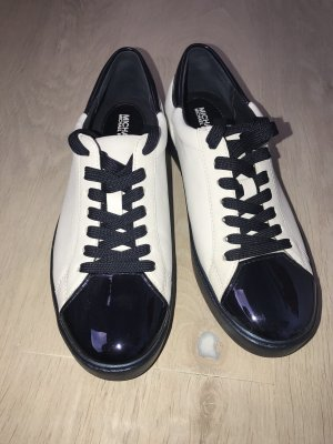 Michael Kors Lace-Up Sneaker white-dark blue leather
