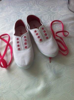 Sneakers / weiß-pink / Gr. 39 / NEU