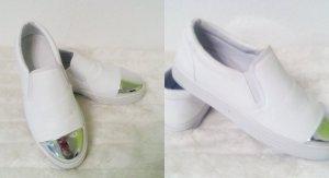 Sneakers weiß/silber Runners Gr 40 Neu Trend 2016