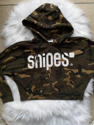 Snipes Hooded Sweater dark brown-beige