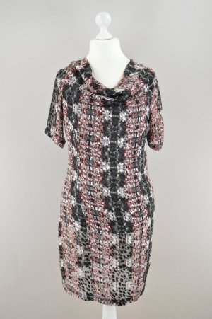 Snob de Noblesse Kleid kurzarm Seide Muster mehrfarbig Größe 40
