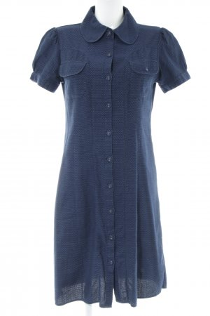 Snob Shirtwaist dress blue spot pattern casual look