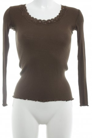 Snob Ribbed Shirt brown casual look