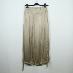 Snob Marlene Trousers gold-colored silk