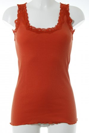 Snob Seidentop dunkelorange Casual-Look