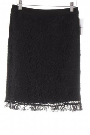Snob Lace Skirt black floral pattern romantic style
