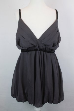 Snob Haut à fines bretelles brun foncé-noir polyester