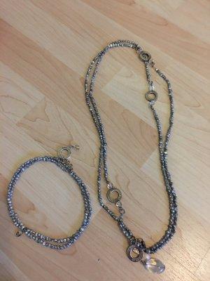 Bracelet argenté-bleu pâle
