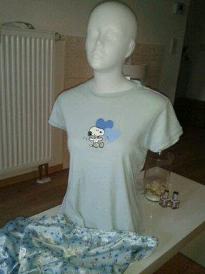 SNOOPY Schlafanzug, babyblau, Größe S