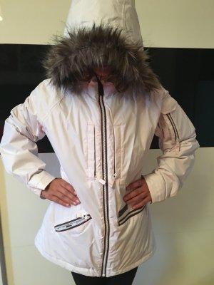 Snowboard Jacke Burton weiß mit Fellkapuze Damen
