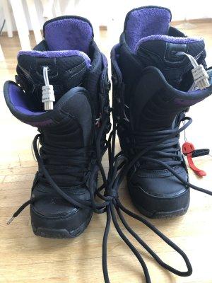 Burton Bottes de neige noir-violet foncé