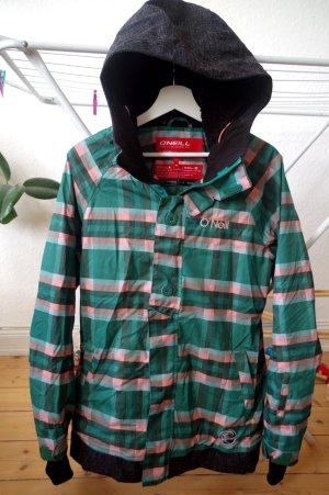 Snowboard Winter Jacke von O'Neill in toller Farbkombi grün rosa