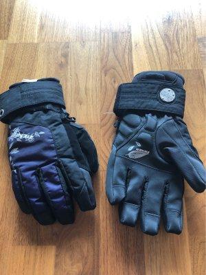 Ziener Gants doublés noir-violet