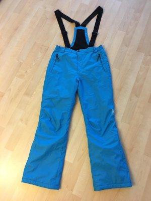 Pantalone da ginnastica blu neon