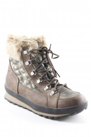 Botas de nieve marrón-color bronce look casual