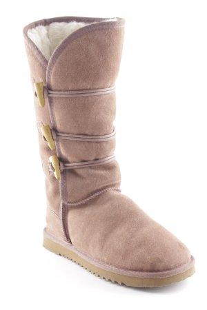 Botas de nieve marrón-marrón claro look Street-Style