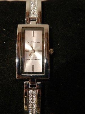 So-Charm-Paris Damen-Armbanduhr- mit 48 Kristallen von Swarovski veredelt-NEU