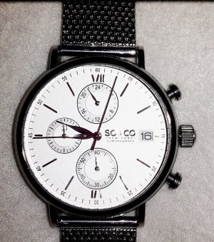 SO & CO New York Uhr mit japanischem Quarzuhrwerk Chronograph and Date